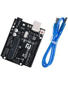 ELEGOO UNO R3 Board Scheda ATmega328P con Cavo USB Compatibile con i progetti IDE di Arduino Conforme alla direttiva RoHS