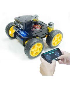 Adeept AWR-A 4WD Smart Car Robot Kit per Auto Compatibile con Arduino Uno R3 rilevamento della Linea sensore a ultrasuoni ESP8266 WiFi Elaborazione Kit di Robot Fai-da-Te con App Mobile e Manuale PDF