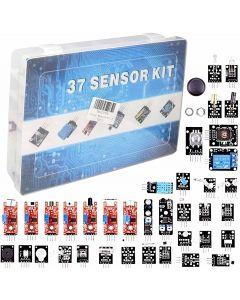 APKLVSR - Kit di moduli sensore 37 in 1, compatibile con Arduino IDE UNO R3 MEGA2560 Nano per Raspberry pi 4 4B +, Pi 3,3B +, RPi A, modello B, B +, 2