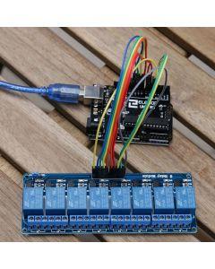 ELEGOO 8 Channel DC 5V Modulo Relay con Accoppiatore Ottico per UNO R3 Mega 1280 DSP Arm PIC AVR Raspberry Pi