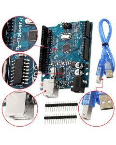 AZDelivery 5 x Scheda Microcontrollore con Cavo USB e con eBook