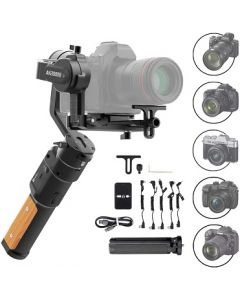 FeiyuTech AK2000C Gimbal 3-Axis Handheld Stabilizer for Mirrorless/DSLR Cameras Like Sony a9/a7/A6300/A6400,CANON EOS R,M50,80D,Panasonic GH4,GH5,Nikon Z7,FUJIFILM XT4/XT3,4.85 lb Payload,Quick Charge