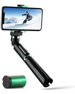 LOFTer Stabilizzatore Smartphone Gimbal Assi singoli, Stabilizzatore Pieghevole per treppiede selfie stick per 3 in 1 Bluetooth telefono cellulare, con telecomando per GoPro e iPhone, Samsung, Huawei