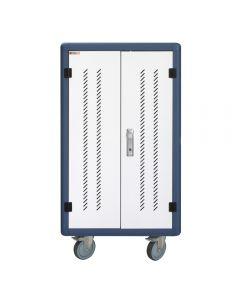 Carrello Stazione di Ricarica 30 Notebook, Tablet o Smartphone Bianco/Blu