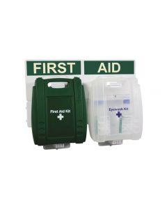 Kit di primo soccorso e kit lavaggio occhi A muro RS PRO per 10 persone